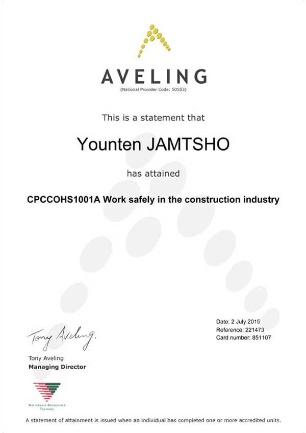 cleaning service certification