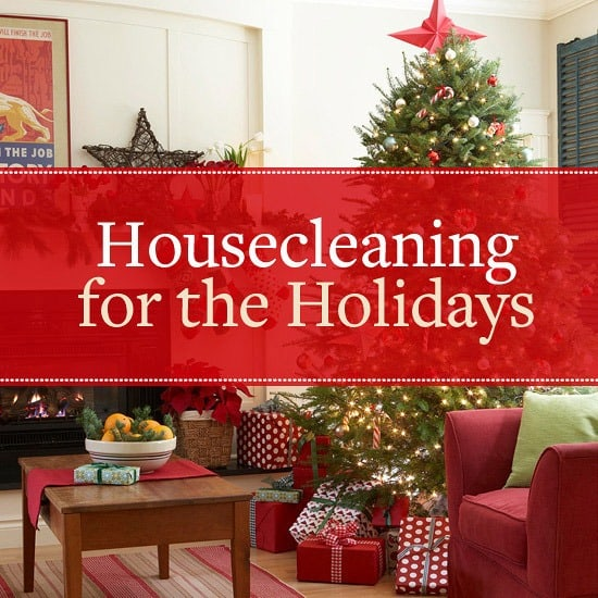 house cleaning for the Christmas Day
